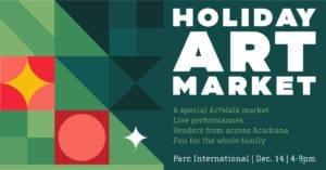 Holiday Art Market event graphic