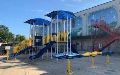 Downtown has a new playground